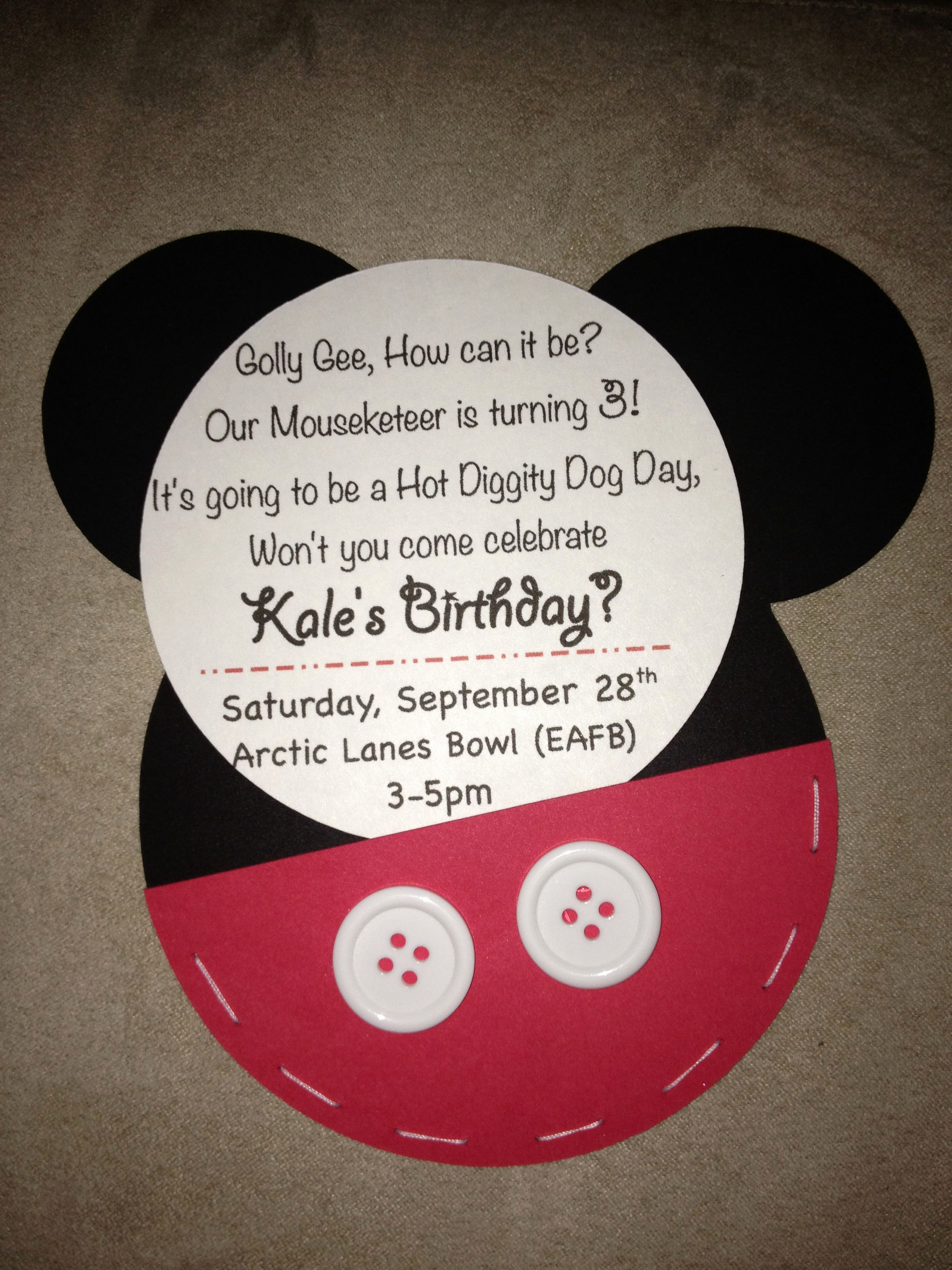 3rd Birthday Party Invitation Wording Elegant Mickey Mouse 3rd Birthday Invitations