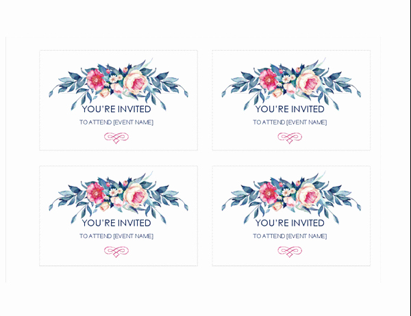 4 Per Page Invitation Template Inspirational Invitations Fice