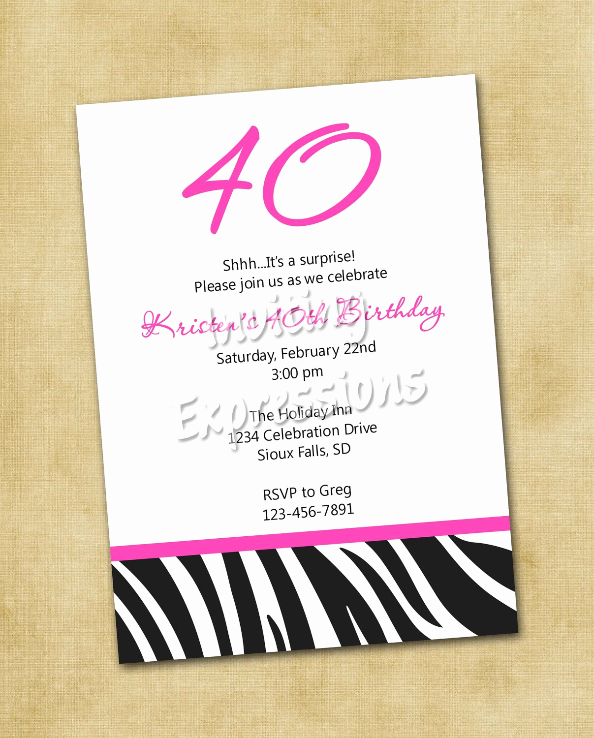 40th Anniversary Invitation Wording Fresh Surprise 40th Birthday Invitation Wording Samples