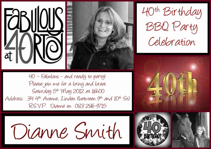 40th Anniversary Invitation Wording Lovely 40th Birthday Invitation Invitations