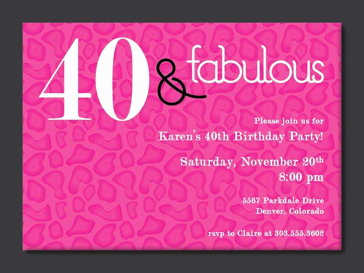 40th Anniversary Invitation Wording Luxury 40th Birthday Free Printable Invitation Template