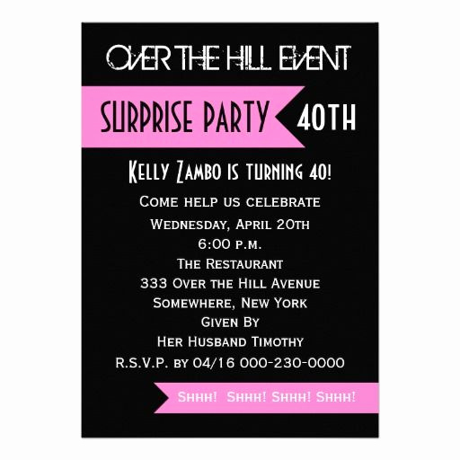 40th Anniversary Invitation Wording Luxury Surprise 40th Birthday Party Invitations Wording