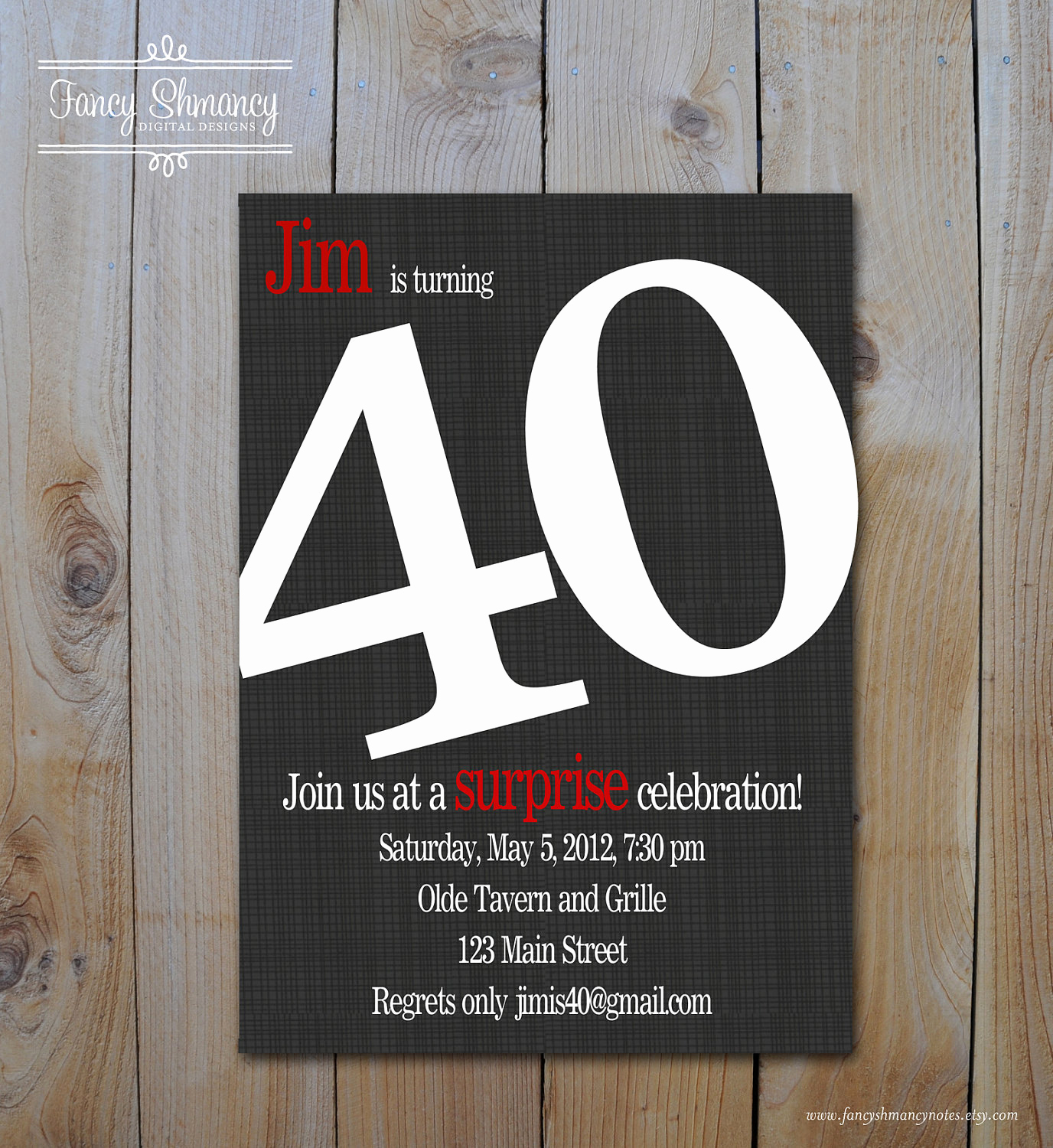 40th Birthday Invitation Ideas Fresh 40th Birthday Invitations Any Age Bold Number Birthday