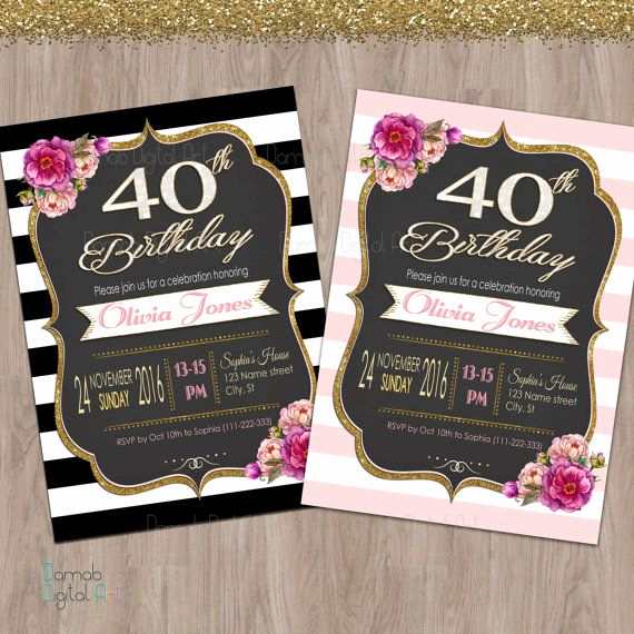 40th Birthday Invitation Ideas Lovely Best 25 40th Birthday Invitations Ideas Only On Pinterest