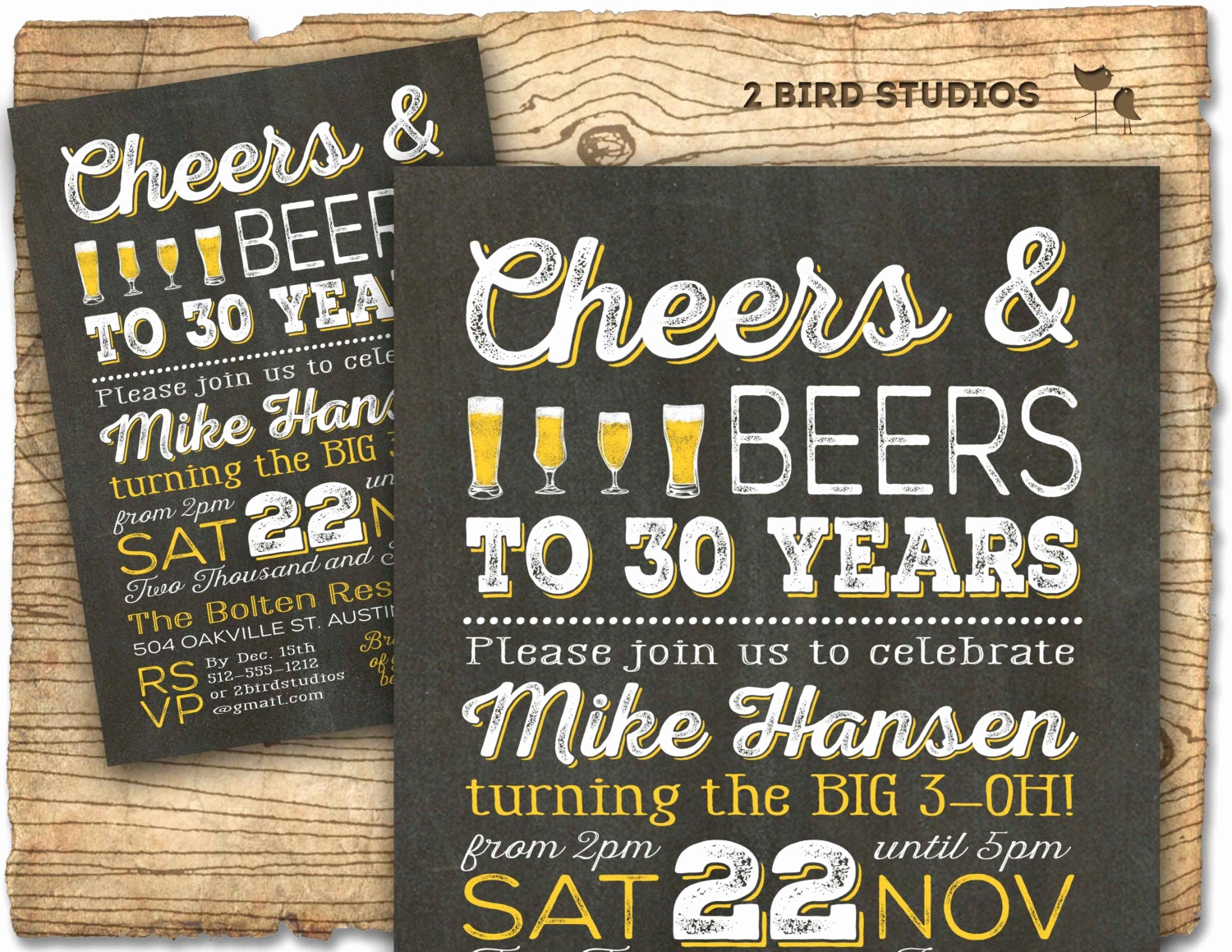 40th Birthday Invitation Ideas New Beer Birthday Invitation Cheers and Beers by 2birdstudios