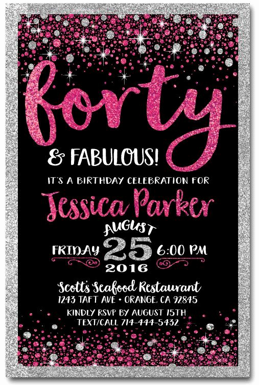 40th Birthday Invitation Ideas Unique Free 40th Birthday Invitation Wording – Free Printable