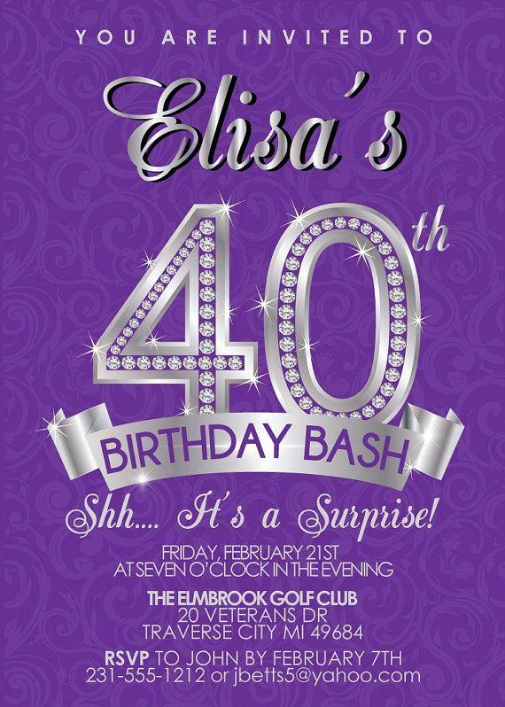 40th Birthday Invitation Wording Awesome 40th Birthday Invitation 40th Birthday Invites Surprise