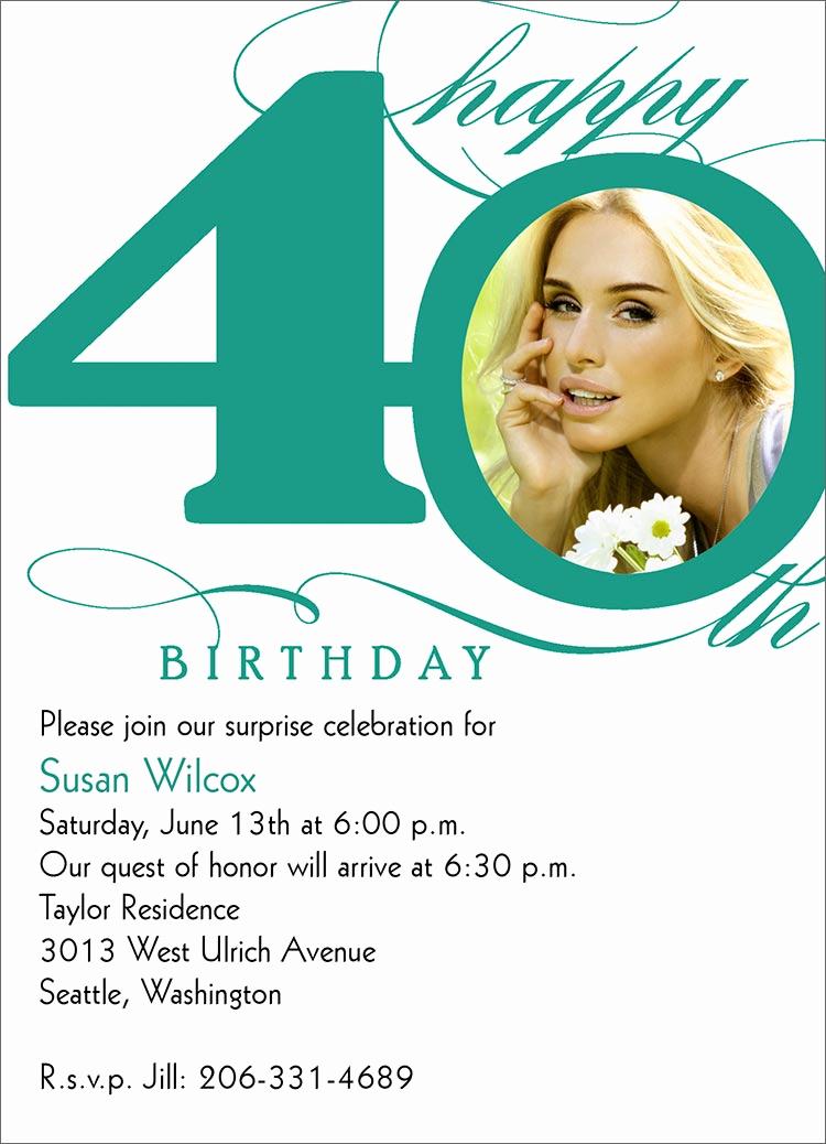 40th Birthday Invitation Wording Fresh 40th Milestone Birthday Birthday From Cardsdirect