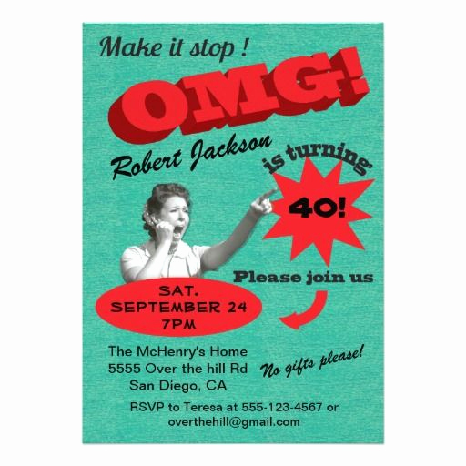 40th Birthday Invitation Wording Funny Best Of 1000 Images About Funny Birthday Party Invitations On