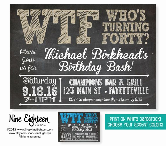 40th Birthday Invitation Wording Funny Inspirational Pin by Heather Crowley On 40th Birthday Ideas