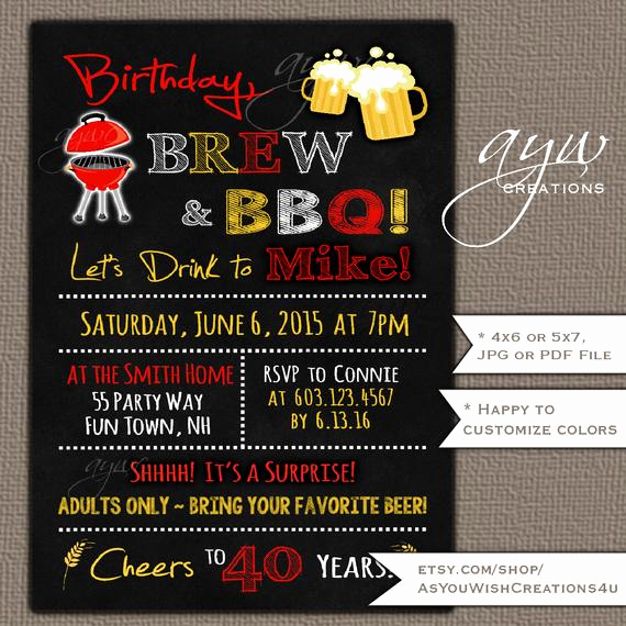 40th Birthday Party Invitation Wording Awesome 40th Birthday Party Invitation for Men S Birthday Party