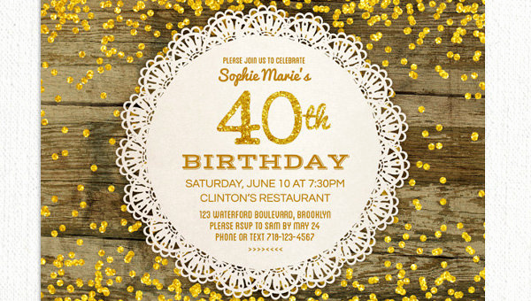 40th Birthday Party Invitation Wording Fresh 26 40th Birthday Invitation Templates – Psd Ai