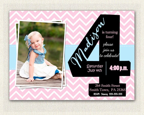 4th Birthday Invitation Wording Awesome Girls 4th Birthday Invitations Printable Fourth Birthday