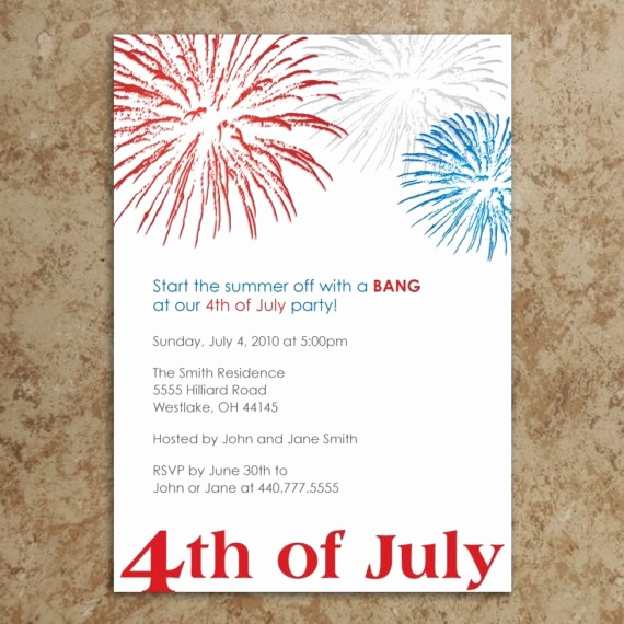 4th Birthday Invitation Wording Beautiful 4th Of July Invitation Let Freedom Ring