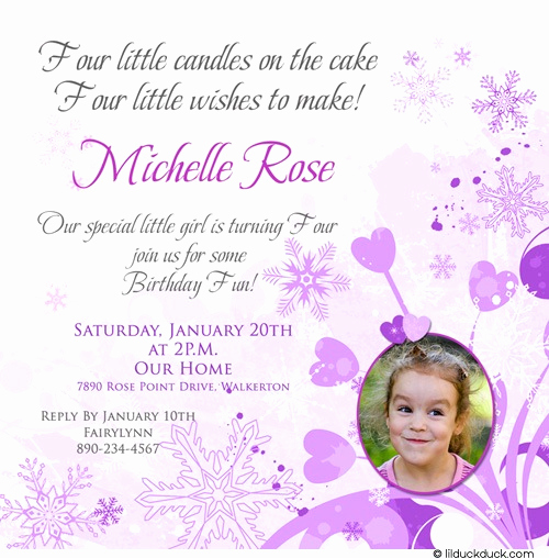 4th Birthday Invitation Wording Best Of 4th Birthday Invitation Wording A Birthday Cake