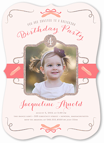 4th Birthday Invitation Wording Elegant 4th Birthday Invitations