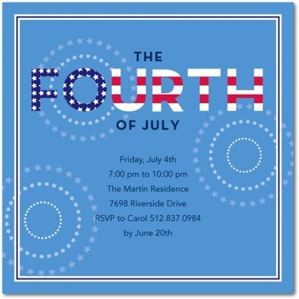 4th Birthday Invitation Wording Luxury Pin by Karen Carver On 4th Of July