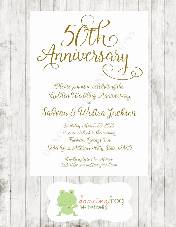 50th Anniversary Invitation Ideas Awesome 50th Wedding Anniversary Invitation Printed Anniversary