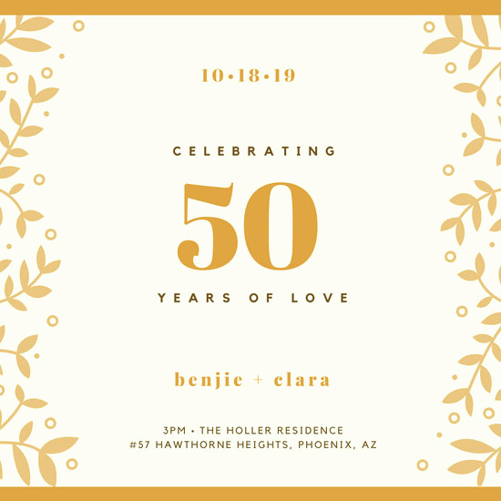 50th Anniversary Invitation Template Fresh Customize 389 50th Anniversary Invitation Templates