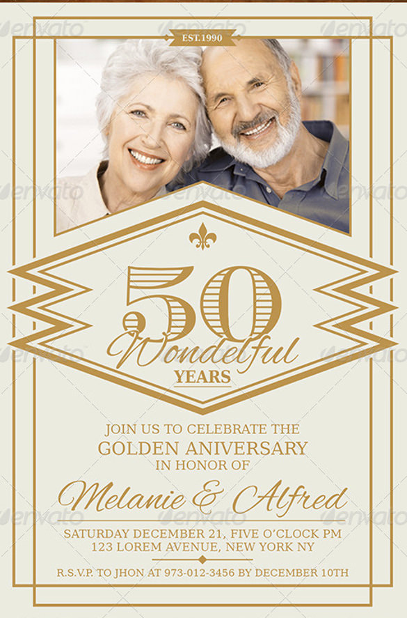 50th Anniversary Invitation Template Inspirational 28 Anniversary Invitation Templates Psd Ai Word