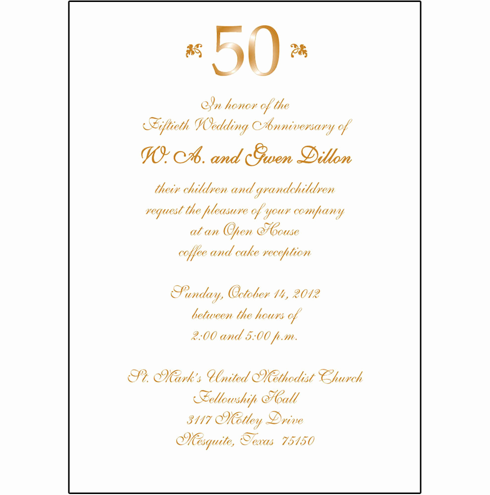 50th Anniversary Invitation Template Lovely 25 Personalized 50th Wedding Anniversary Party Invitations