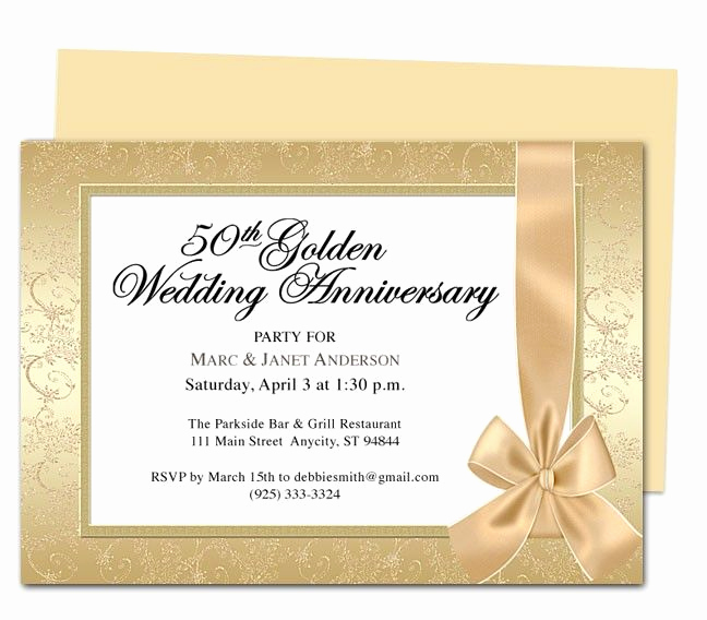 50th Anniversary Invitation Template Lovely 9 Best 25th & 50th Wedding Anniversary Invitations