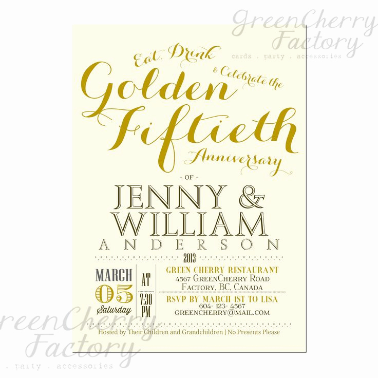 50th Anniversary Invitation Template Luxury 9 Best 25th & 50th Wedding Anniversary Invitations