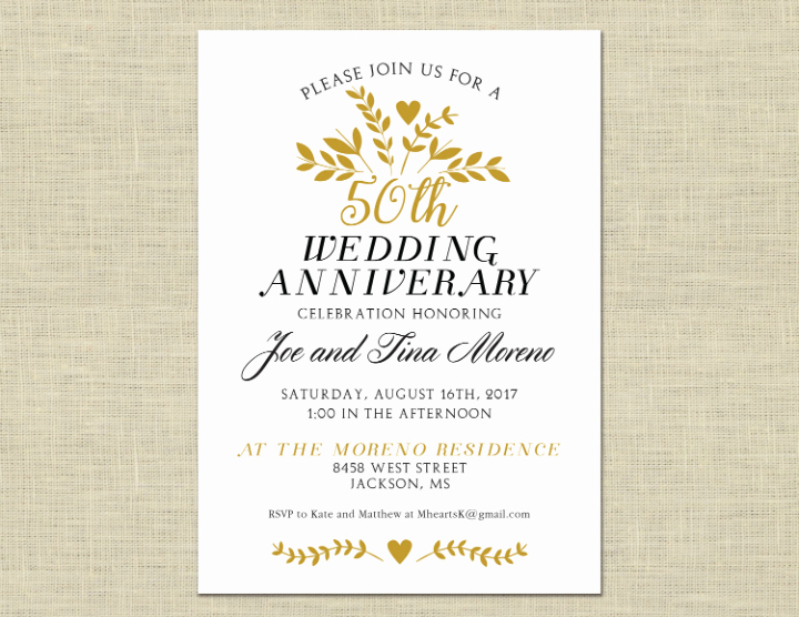 50th Anniversary Invitation Template New 32 50th Wedding Anniversary Invitation Designs