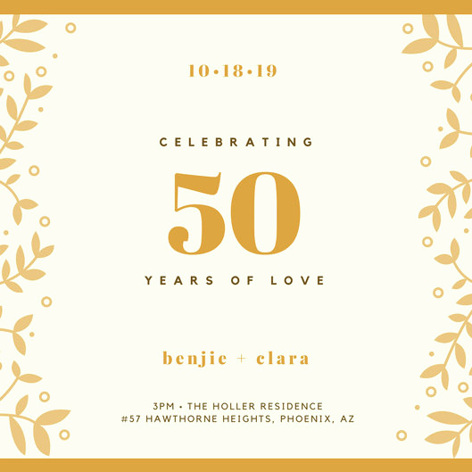 50th Anniversary Invitation Template New Vintage Invitation Templates Canva