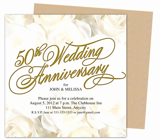50th Anniversary Invitation Templates Awesome 9 Best 25th & 50th Wedding Anniversary Invitations