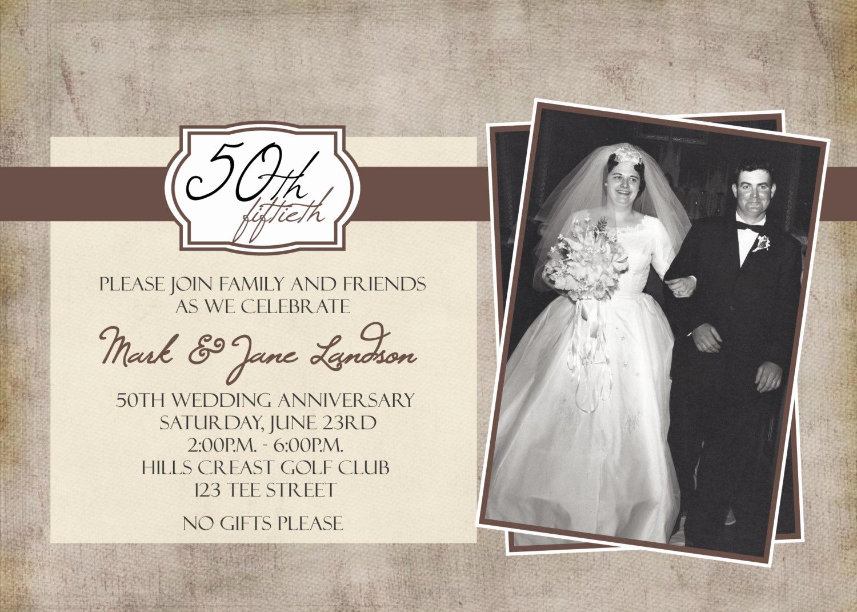 50th Anniversary Invitation Templates Beautiful 50th Anniversary Party Printable Invitation