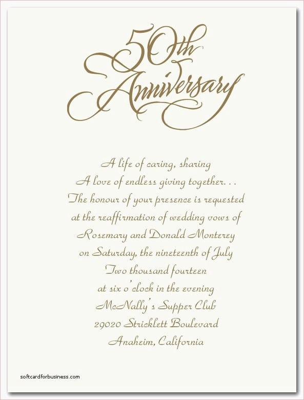 50th Anniversary Invitation Templates Beautiful 50th Wedding Anniversary Invitations