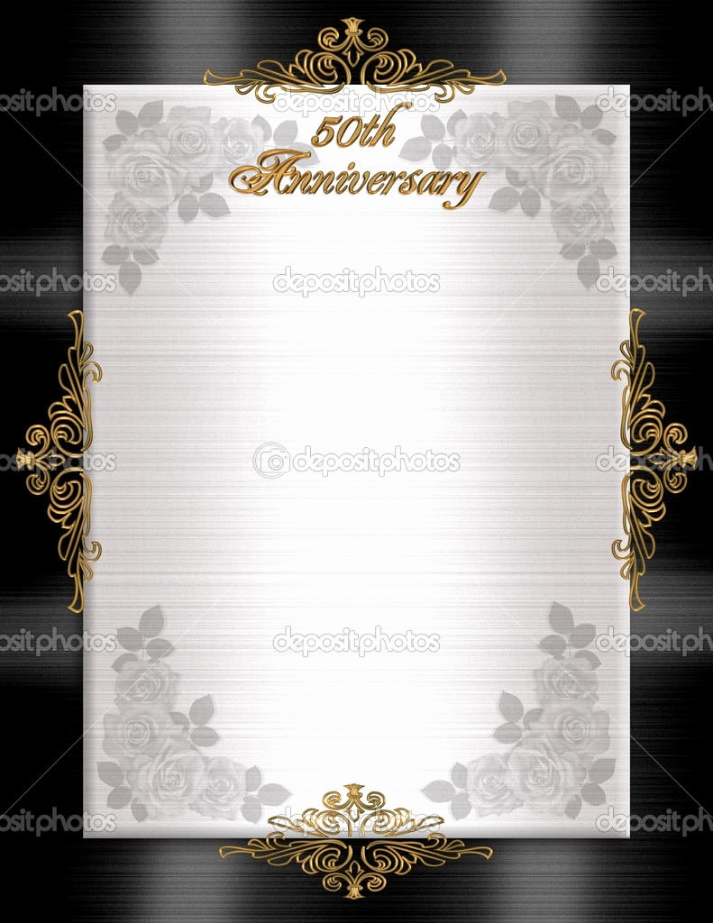 50th Anniversary Invitation Templates Best Of 50th Wedding Anniversary Printable Invitation