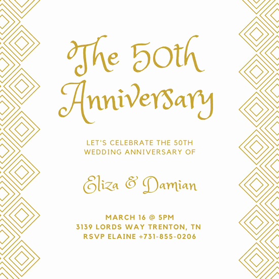 50th Anniversary Invitation Templates Best Of Customize 389 50th Anniversary Invitation Templates