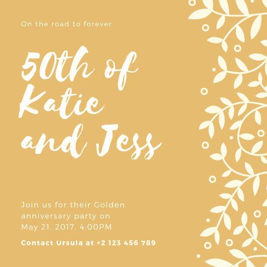 50th Anniversary Invitation Templates Elegant Customize 453 50th Anniversary Invitation Templates