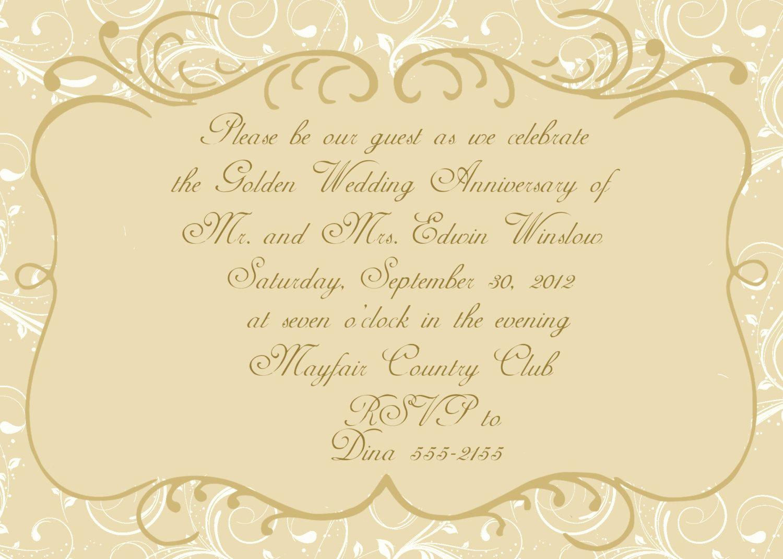 50th Anniversary Invitation Templates Fresh Anniversary Invitations 50th