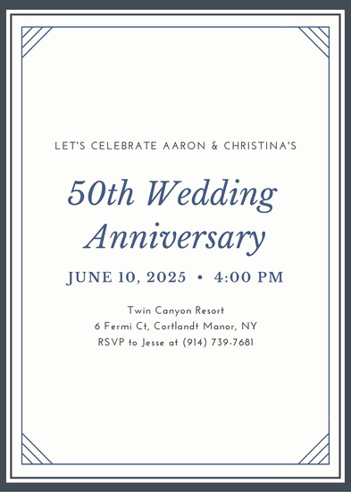50th Anniversary Invitation Templates Fresh Customize 448 50th Anniversary Invitation Templates