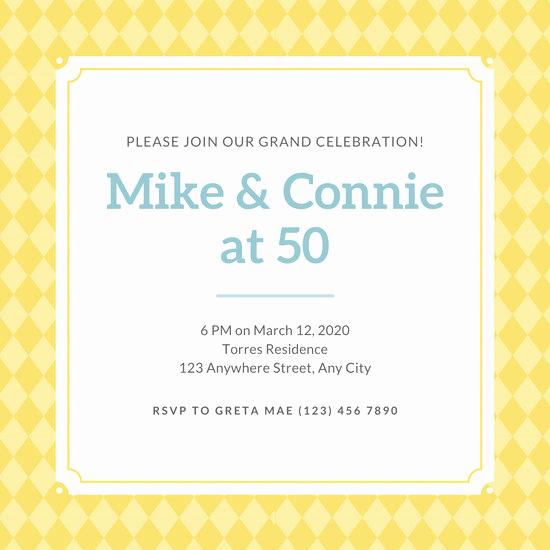 50th Anniversary Invitation Templates Inspirational Customize 448 50th Anniversary Invitation Templates