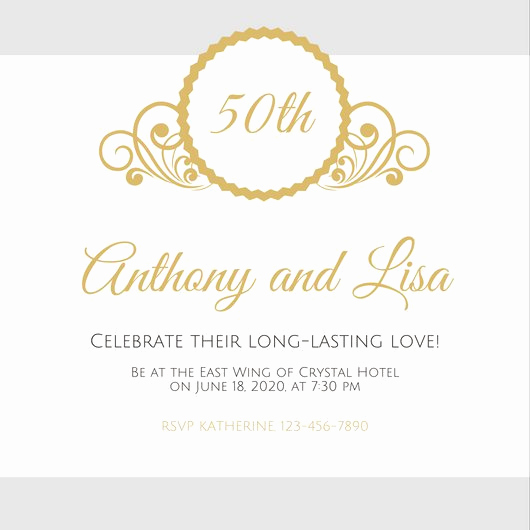 50th Anniversary Invitation Templates Lovely Customize 1 796 50th Anniversary Invitation Templates