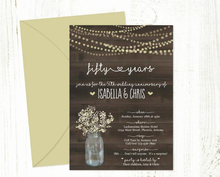50th Anniversary Invitation Templates Luxury 32 50th Wedding Anniversary Invitation Designs
