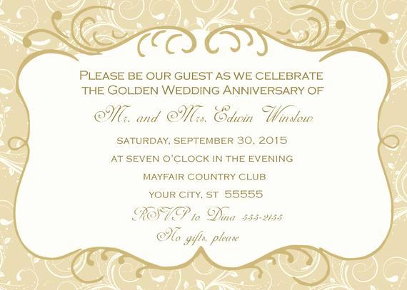 50th Anniversary Invitation Templates New 50th Wedding Anniversary Invitation
