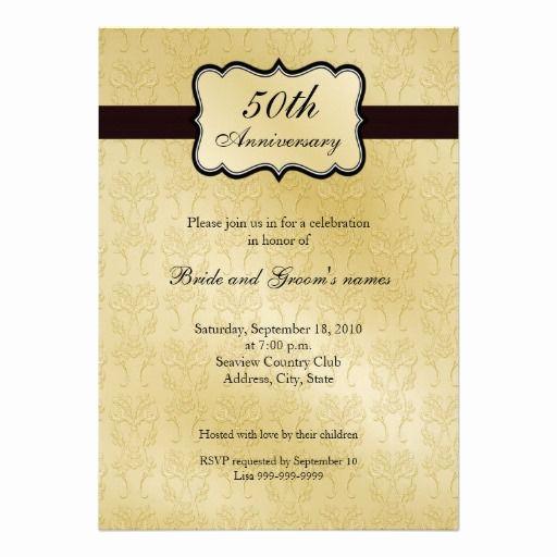 50th Anniversary Invitation Templates Unique 50th Anniversary Invitations