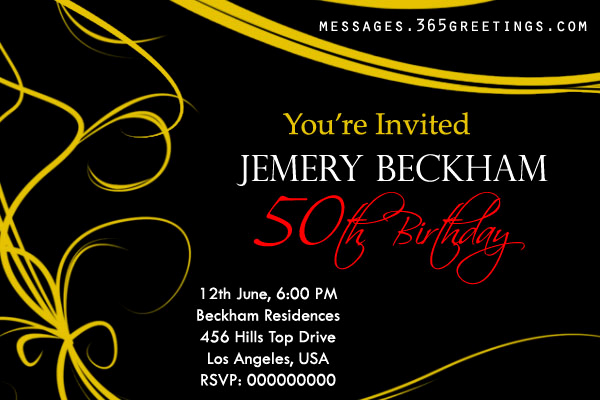 50th Anniversary Invitation Wording Elegant 50th Birthday Invitations and 50th Birthday Invitation