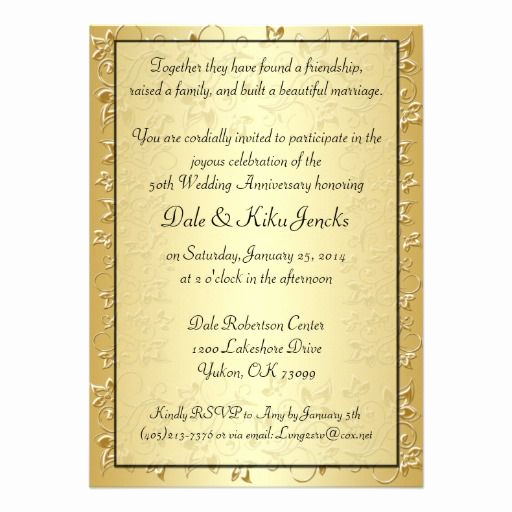 50th Anniversary Invitation Wording Fresh 107 Best Images About 50th Anniversary On Pinterest