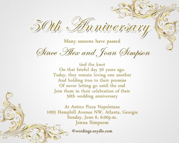 50th Anniversary Invitation Wording Inspirational 50th Wedding Anniversary Invitation Wording Ideas
