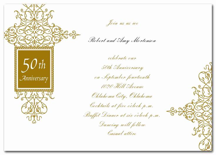 50th Anniversary Invitation Wording Luxury 39 Best 50th Anniversary Invites & Words Images On