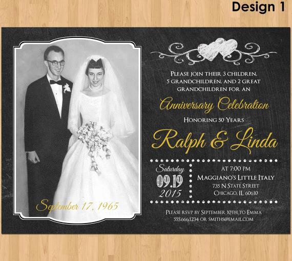 50th Anniversary Invitation Wording Luxury 50th Anniversary Invitation Printable 50th Wedding