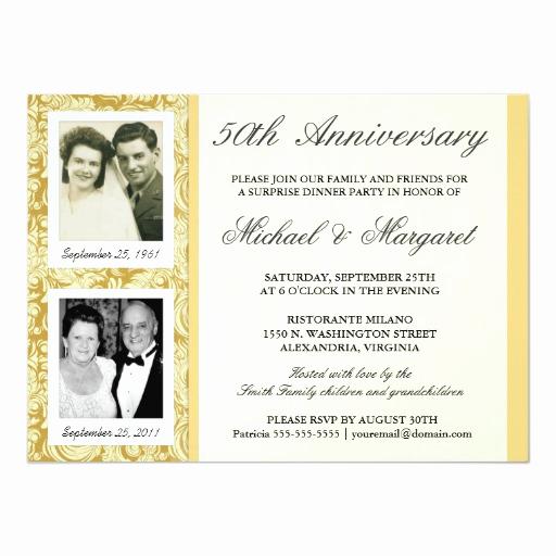50th Anniversary Invitation Wording Luxury 50th Anniversary Invitations then & now S