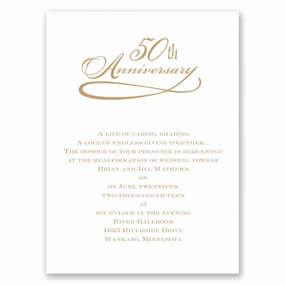 50th Anniversary Invitation Wording Luxury Classic 50th Anniversary Invitation