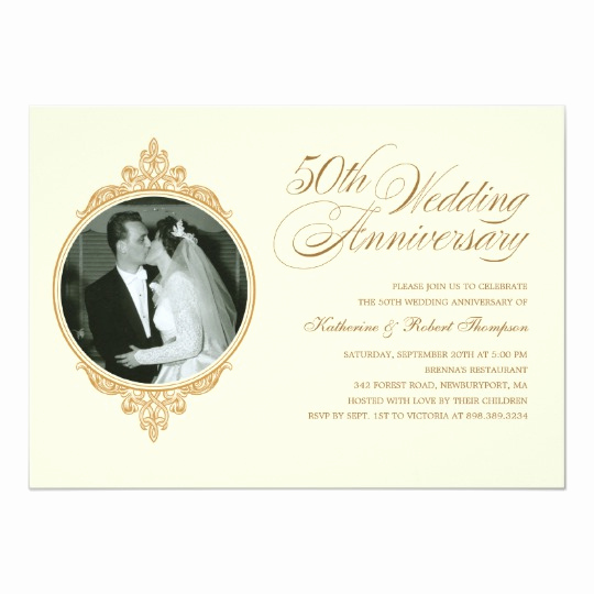 50th Anniversary Invitation Wording Luxury Classic 50th Anniversary Invitations